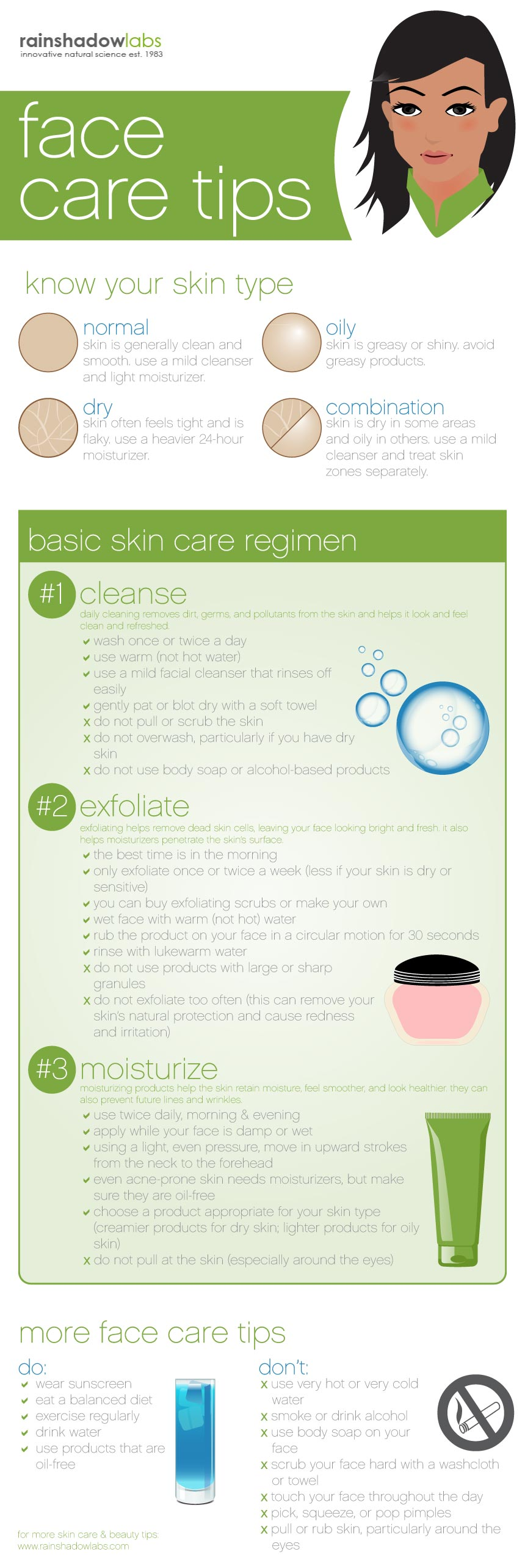 face care tips infographic