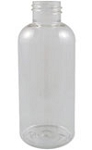 K4BB (case) 4oz clear Boston Round Bottles- 30 ct
